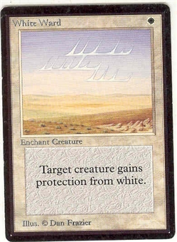 Magic the Gathering Beta Single White Ward - SLIGHT PLAY (SP)