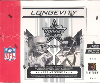 2005 Leaf Rookies & Stars Longevity Football Hobby Box