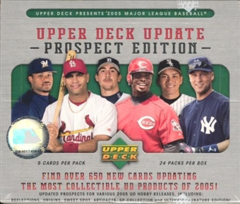 2005 Upper Deck Update Prospect Edition Baseball Hobby Box