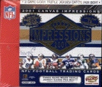 2001 Pacific Canvas Impressions Football Hobby Box