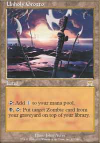 Magic the Gathering Onslaught Single Unholy Grotto - NEAR MINT (NM)