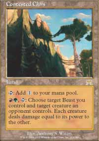 Magic the Gathering Onslaught Single Contested Cliffs - NEAR MINT (NM)