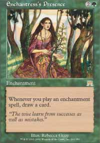 Magic the Gathering Onslaught Single Enchantress's Presence Foil