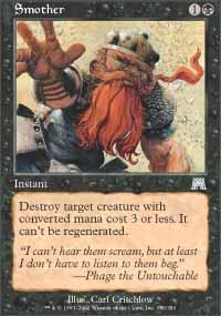 Magic the Gathering Onslaught Single Smother - NEAR MINT (NM)