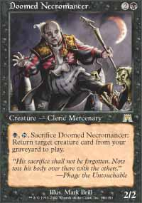 Magic the Gathering Onslaught Single Doomed Necromancer - NEAR MINT (NM)