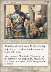 Magic the Gathering Onslaught Single Mobilization UNPLAYED (NM/MT)