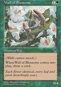 Magic the Gathering Stronghold Single Wall of Blossoms - NEAR MINT (NM)