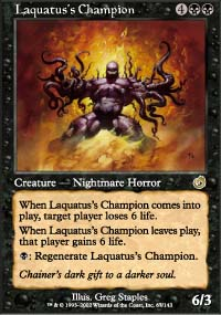 Magic the Gathering Torment Single Laquatus's Champion - NEAR MINT (NM)