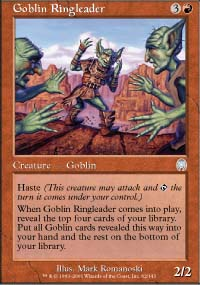 Magic the Gathering Apocalypse Single Goblin Ringleader FOIL