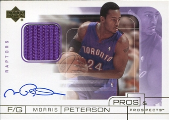 2001/02 Upper Deck Pros and Prospects JSY Autograph #MPA Morris Peterson