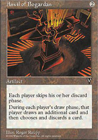 Magic the Gathering Visions Single Anvil of Bogardan - MODERATE PLAY (MP)