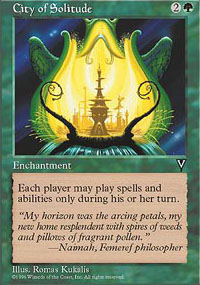 Magic the Gathering Visions Single City of Solitude - SLIGHT PLAY (SP)