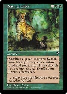 Magic the Gathering Visions Single Natural Order - MODERATE PLAY (MP)
