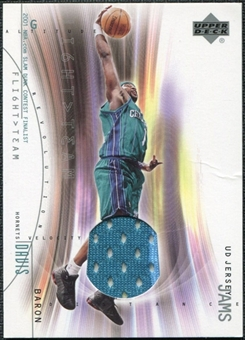 2001/02 Upper Deck Flight Team UD Jersey Jams #BDJ Baron Davis