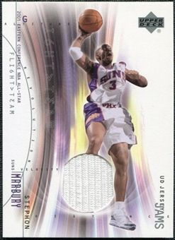 2001/02 Upper Deck Flight Team UD Jersey Jams #SMJ Stephon Marbury