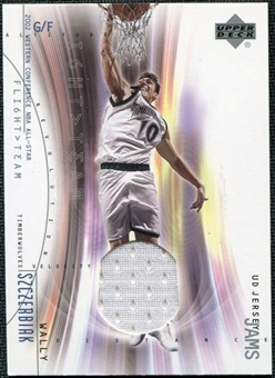 2001/02 Upper Deck Flight Team UD Jersey Jams #WSJ Wally Szczerbiak