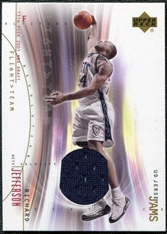 2001/02 Upper Deck Flight Team UD Jersey Jams Gold #RJJ Richard Jefferson /50