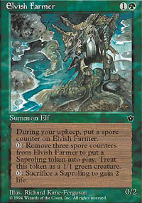 Magic the Gathering Fallen Empires Single Elvish Farmer - NEAR MINT (NM)