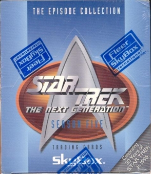 Star Trek: The Next Generation Season Five Hobby Box (1996 Skybox)