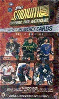 2001/02 Topps Stadium Club Relic Edition Hockey Hobby Box