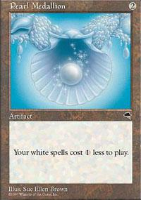 Magic the Gathering Tempest Single Pearl Medallion - SLIGHT PLAY (SP)
