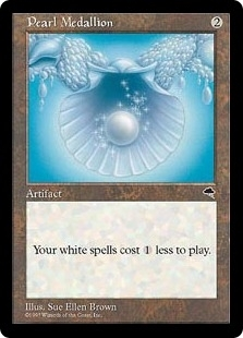 Magic the Gathering Tempest Single Pearl Medallion - NEAR MINT (NM)