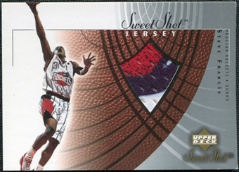 2002/03 Upper Deck Sweet Shot Jerseys #SFJ Steve Francis