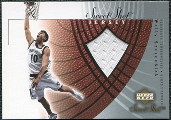2002/03 Upper Deck Sweet Shot Jerseys #WSJ Wally Szczerbiak