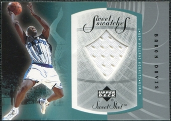 2002/03 Upper Deck Sweet Shot Sweet Swatches #BDS Baron Davis
