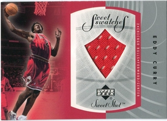 2002/03 Upper Deck Sweet Shot Sweet Swatches #ECS Eddy Curry