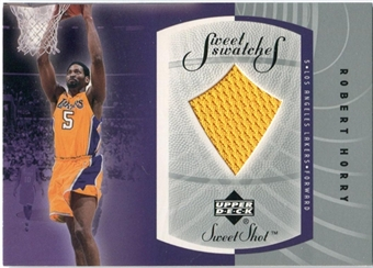 2002/03 Upper Deck Sweet Shot Sweet Swatches #RHS Robert Horry