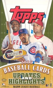 2005 Topps Updates & Highlights Baseball Jumbo Box