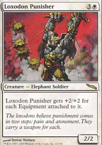 Magic the Gathering Mirrodin Single Loxodon Punisher LIGHT PLAY (NM)