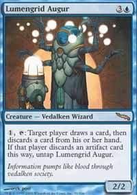 Magic the Gathering Mirrodin Singles 4x Lumengrid Augur - NEAR MINT (NM)