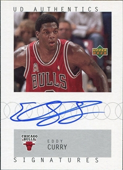 2002/03 Upper Deck UD Authentics Signatures #EC Eddy Curry