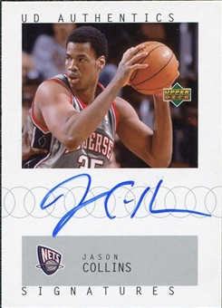 2002/03 Upper Deck UD Authentics Signatures #JC Jason Collins