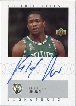 2002/03 Upper Deck UD Authentics Signatures #KE Kedrick Brown