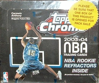2003/04 Topps Chrome Basketball 24 Pack Box