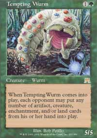 Magic the Gathering Onslaught Singles 4x Tempting Wurm UNPLAYED (NM/MT)