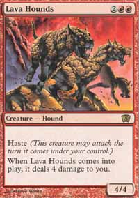 Magic the Gathering 8th Edition Singles 4x Lava Hounds - NEAR MINT (NM)