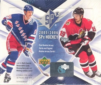 2005/06 Upper Deck SPx Hockey Hobby Box