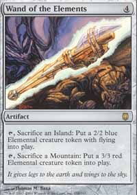 Magic the Gathering Darksteel Single Wand of the Elements Foil