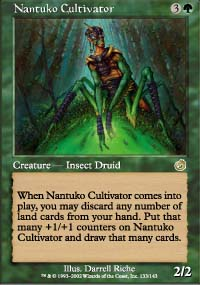 Magic the Gathering Torment Singles 4x Nantuko Cultivator - NEAR MINT (NM)
