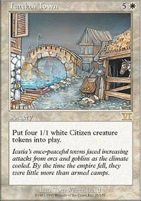 Magic the Gathering 6th Edition Single Icatian Town - NEAR MINT (NM)