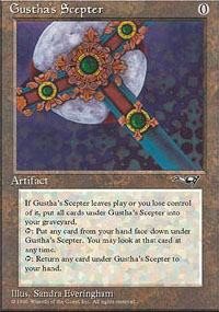 Magic the Gathering Alliances Single Gustha's Scepter UNPLAYED (NM/MT)