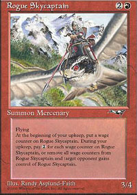 Magic the Gathering Alliances Single Rogue Skycaptain UNPLAYED (NM/MT)