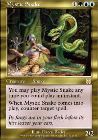 Magic the Gathering Apocalypse Single Mystic Snake - SLIGHT PLAY (SP)