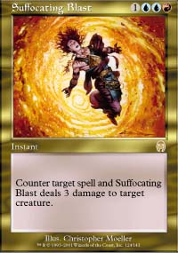 Magic the Gathering Apocalypse Single Suffocating Blast - NEAR MINT (NM)