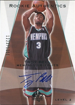 2003/04 Upper Deck SP Authentic #160 Troy Bell /1250 RC Autograph