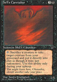 Magic the Gathering Chronicles Single Hell's Caretaker - NEAR MINT (NM)